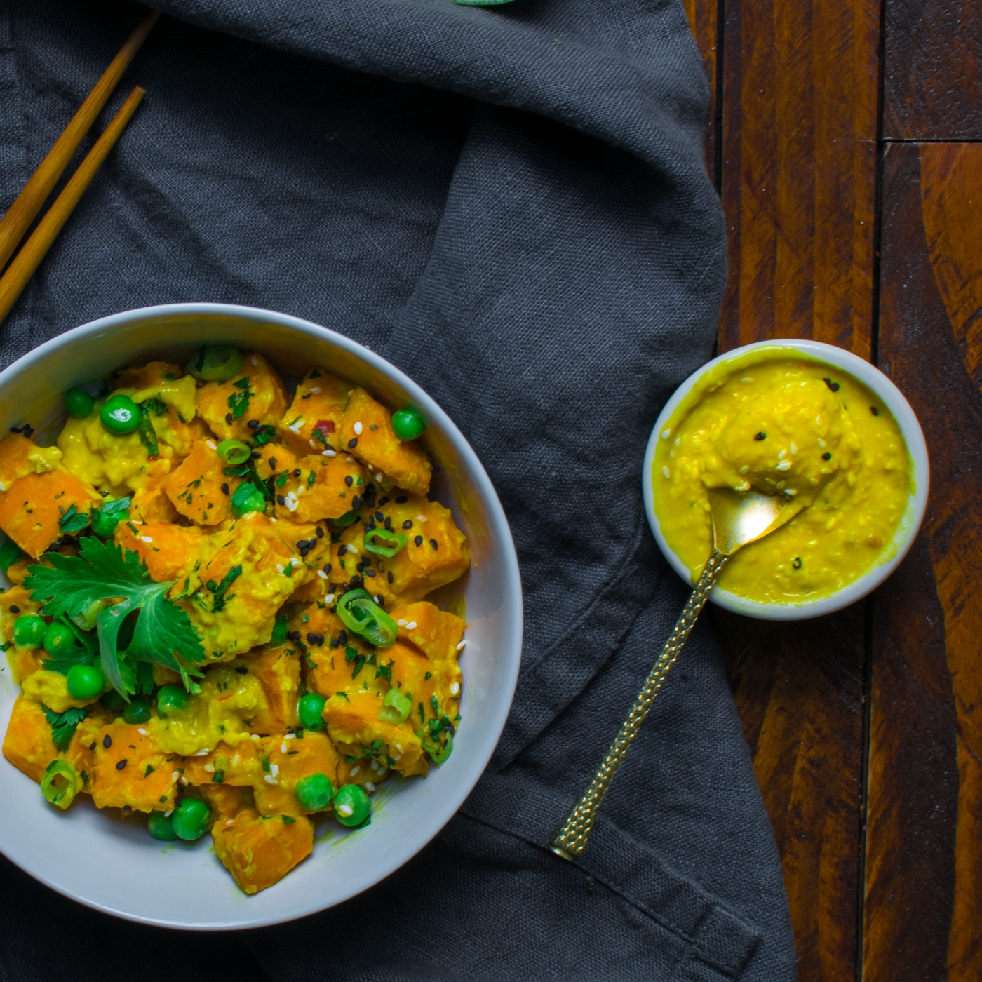 Organic Sweet Potato Thai curry - white bowl w sauce.jpg